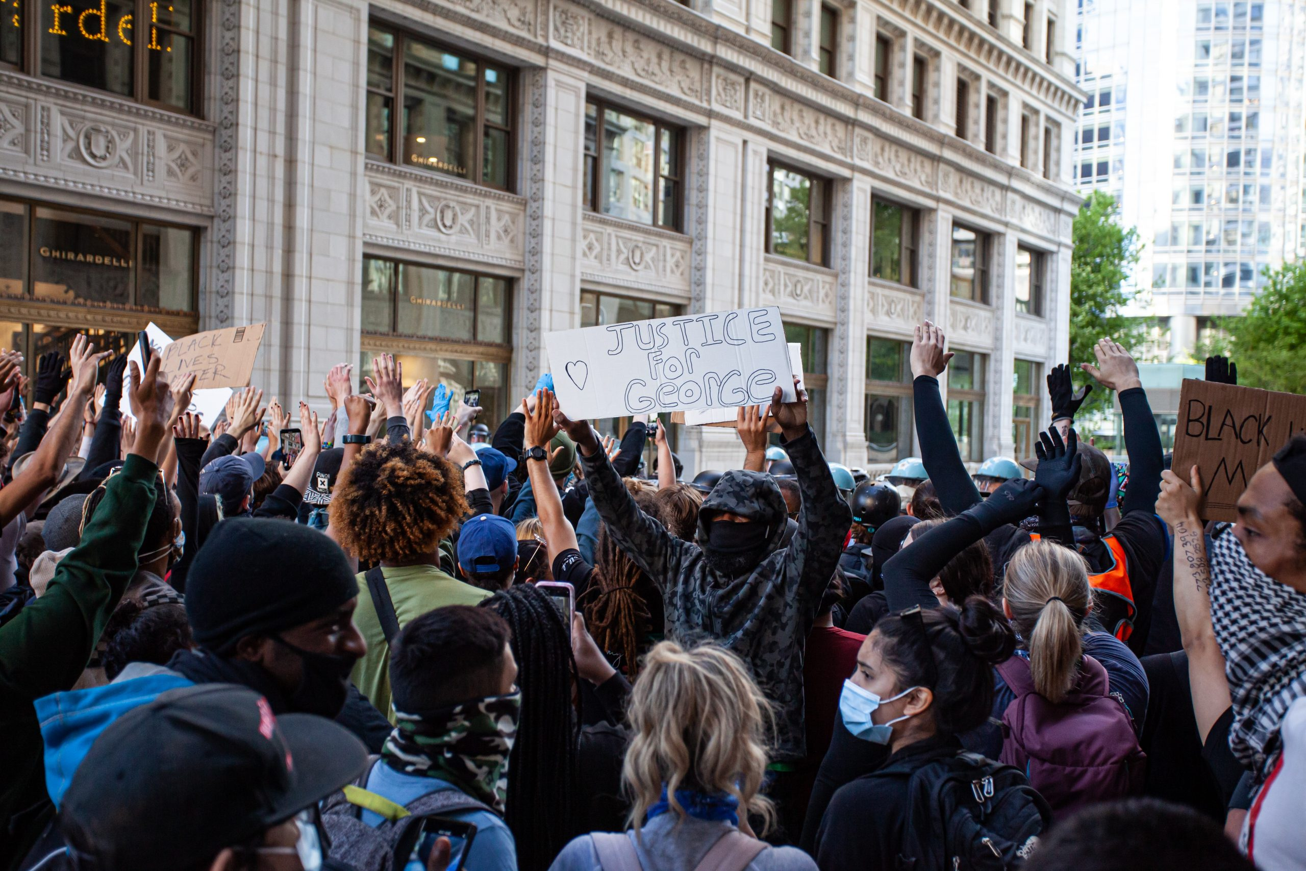 Protest for George Floyd in downtown Chicago